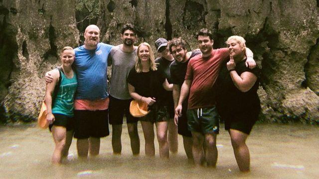 Cate Huston y sus colaboradores en Tailandia
