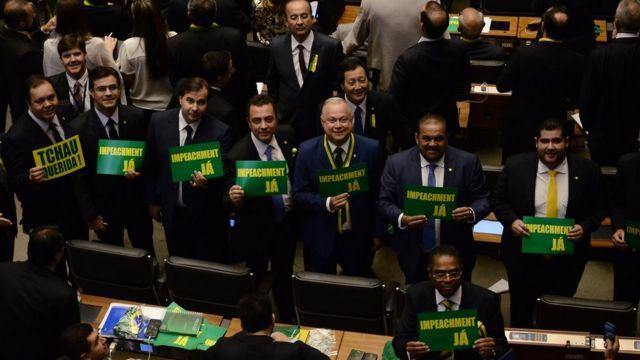 Participação da bancada do DEM na votação do impeachment de Dilma