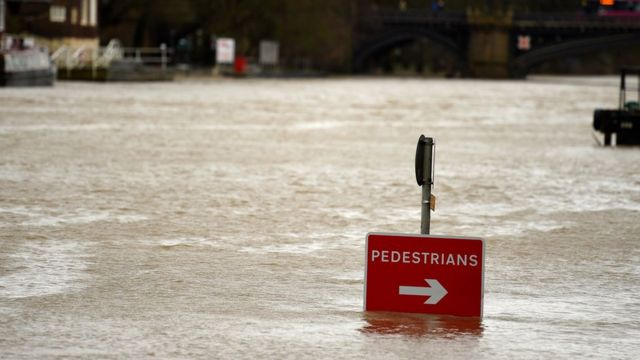 High water levels at the River Ouse