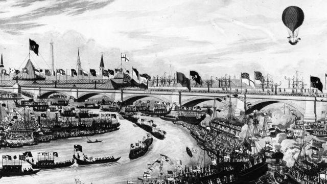 Inauguración del nuevo puente de Londres