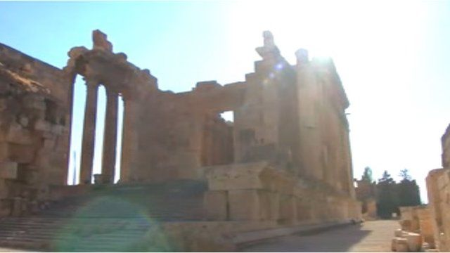 The Roman temples ruins in Baalbek.