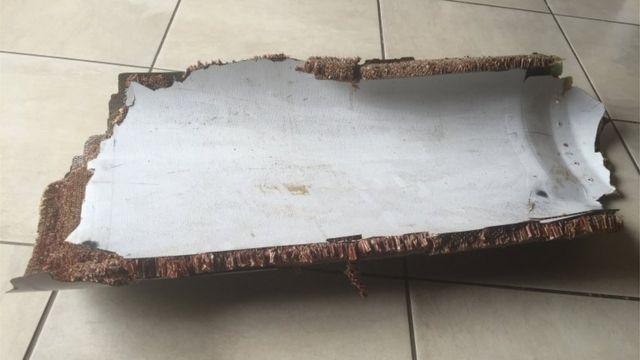 昨年12月に南アフリカの観光客がモザンビークで発見した破片