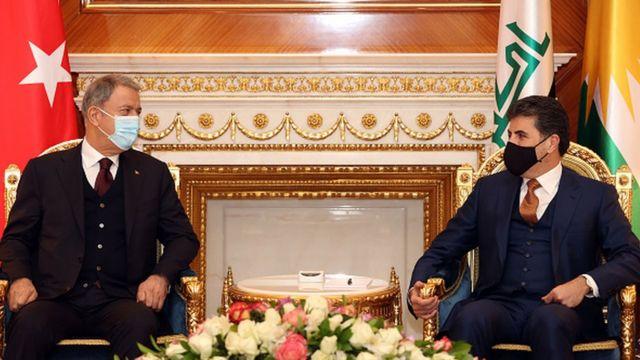 Hulusi Akar ve Irak Kürdistan Bölgesel Yönetimi Başkanı Neçirvan Barzani