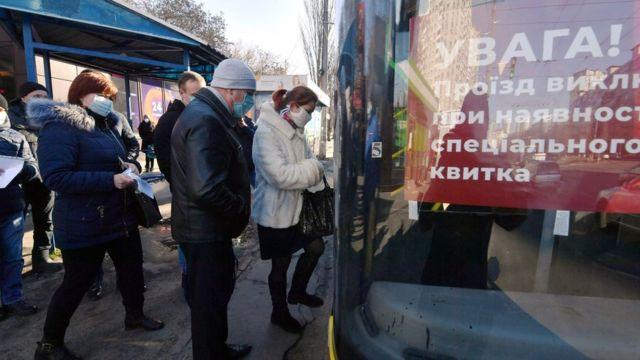очередь на автобус