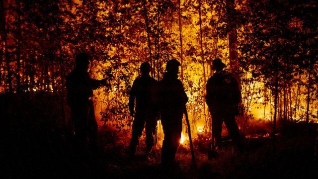 Fire in Yakutia, Sakha, Russia