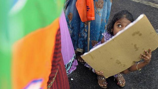 طفلة في أحد المناطق الفقيرة في الهند