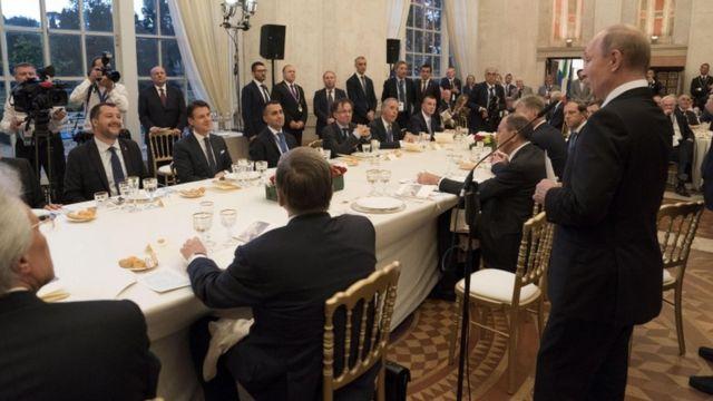 На ужине в честь Владимира Путина в Риме