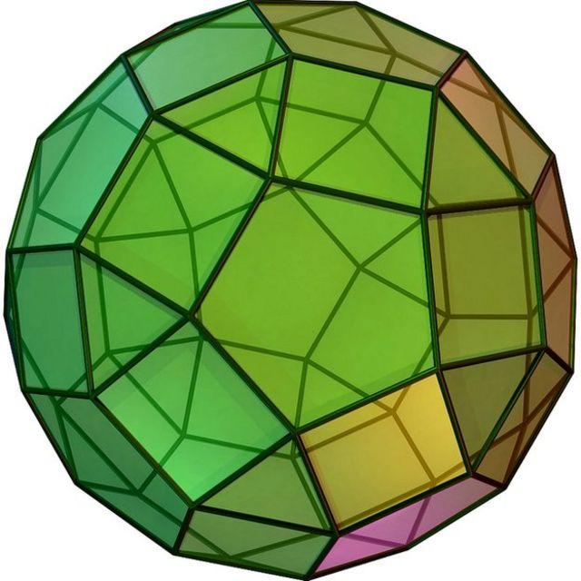 el sólido arquimediano rombicosidodecaedro. (Cortesía de en.wiki User Cyp que usó POV-Ray)