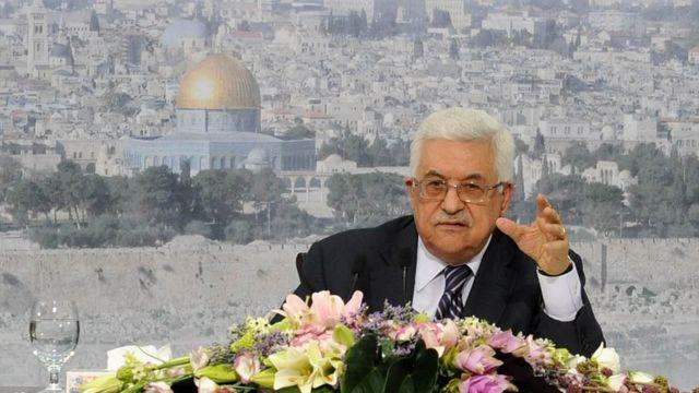 फ़लस्तीनी राष्ट्रपति महमूद अब्बास