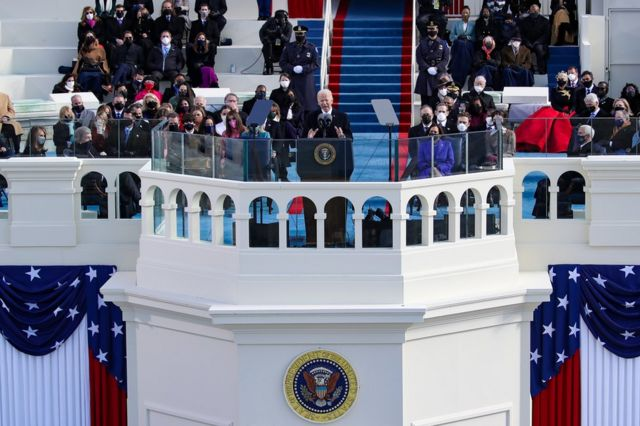 President Biden gives his inaugural speech