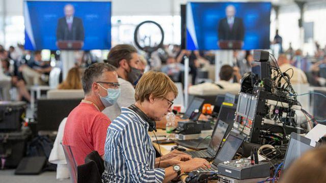 Медиа-центр, саммит в Женеве
