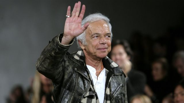 """In this file picture taken on February 8, 2008, designer Ralph Lauren waves at the conclusion of his Fall 2008 women""""s fashion show during Fashion Week in New York"""
