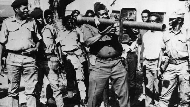 उगांडा में राष्ट्रपति इदी अमीन.