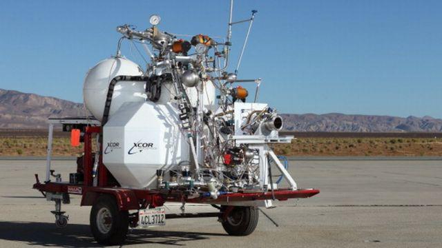 2009'da üretilen XCOR Aerospace motoru