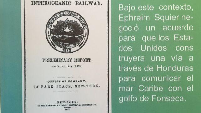 Portada del Reporte Preliminar sobre el Ferrocarril Interoceánico por Honduras de E.G. Squier, publicado en 1854.