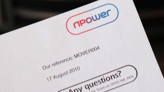 Npower headed letter