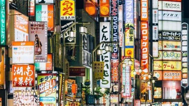 香港街头广告和招牌