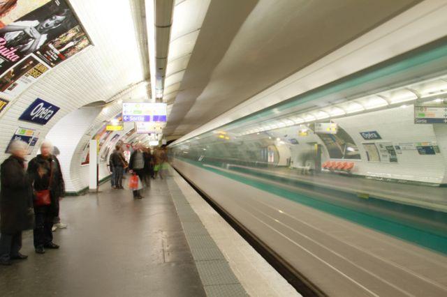 La estación de metro Opéra, en París