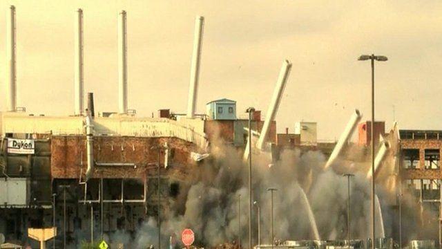 Demolition of former Kodak factory