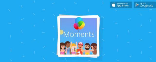 Una captura de pantalla de Facebook Moments