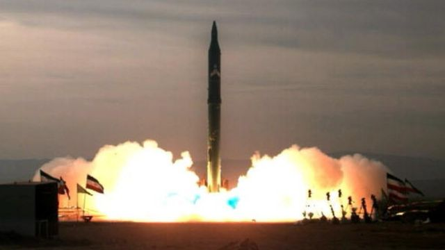 Picture obtained from the Iranian ISNA news agency on December 16, 2009 shows the test-firing at an undisclosed location in Iran of an improved version of the Sejil 2 medium-range missile