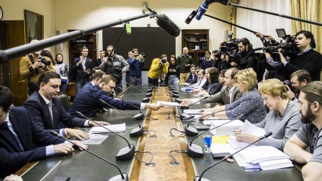 Навальный в ЦИК 25 декабря