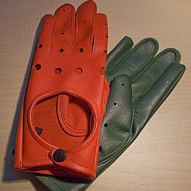 Guantes rojo y verde