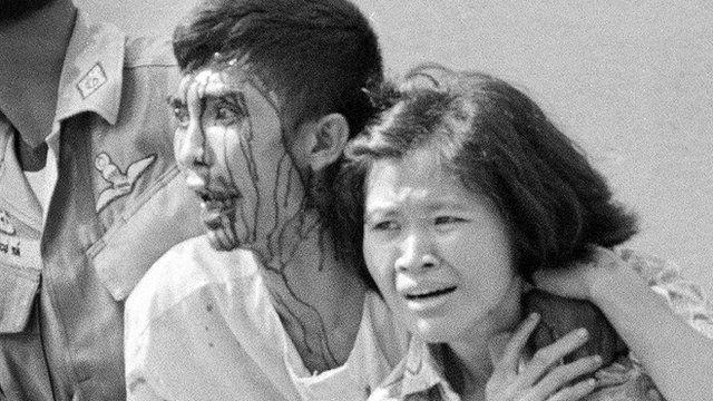 Thai students during the disturbances of 1976