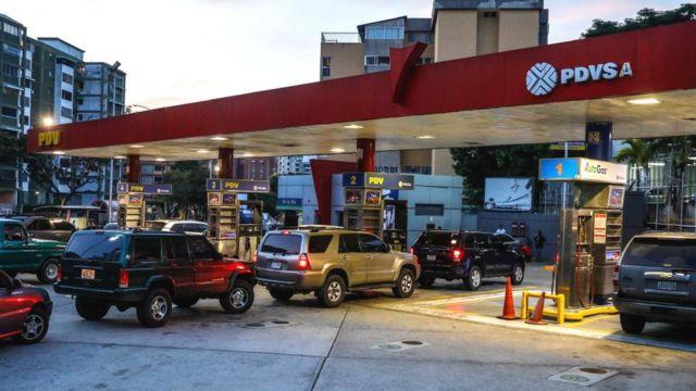 Estación de gasolina de PDVSA.
