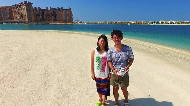 Kaz and Mariko in Dubai