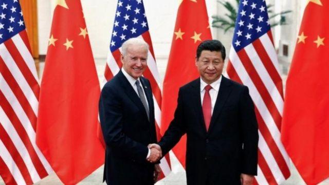 2013年拜登访华,拜访了升任国家主席的习近平。