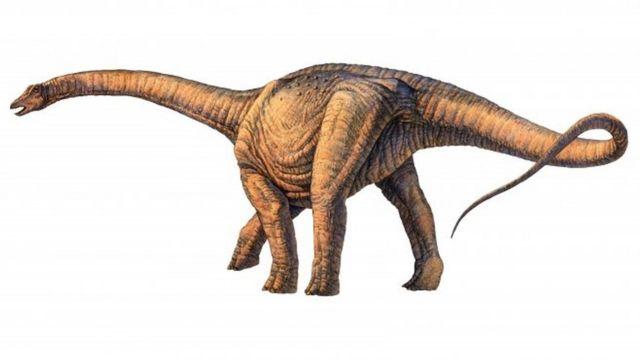 Una ilustración del Argentinosaurus