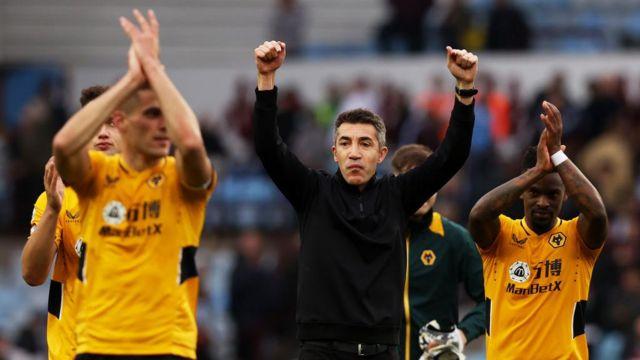Bruno Lage applauds away fans