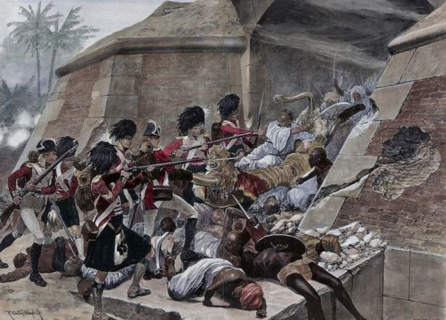 Ilustración de la Guerra Anglo-Mysore en 1799