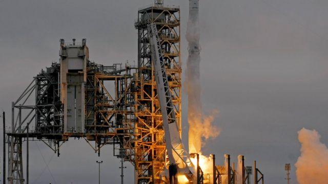 تم الإطلاق من قاعدة كينيدي الفضائية في فلوريدا