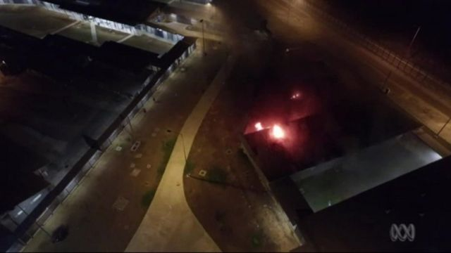 Fire at Christmas Island migrant detention centre