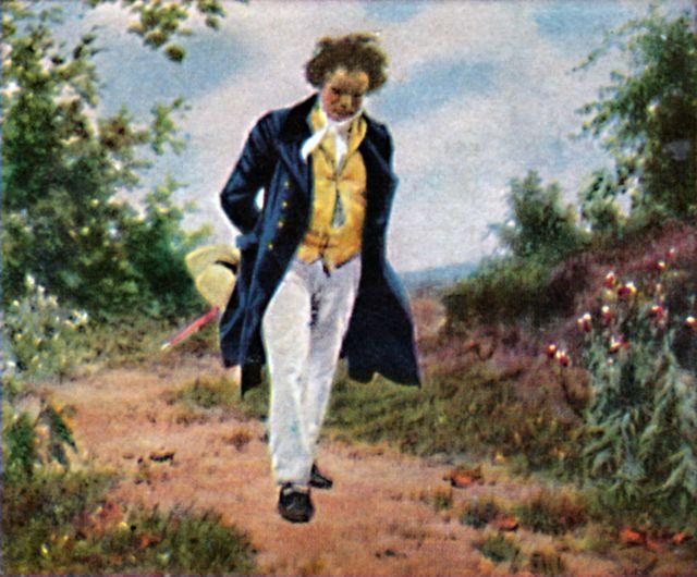 Beethoven pintado por el artista vienés Julius Schmid (1854-1934).