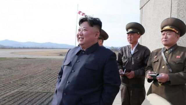 Kim Jong-un supervisa trabajos militares