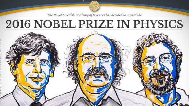 David Thouless, Duncan Haldane y Michael Kosterlitz