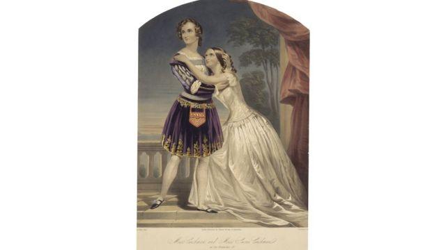 Cushman sisters as Romeo & Juliet, 1846.