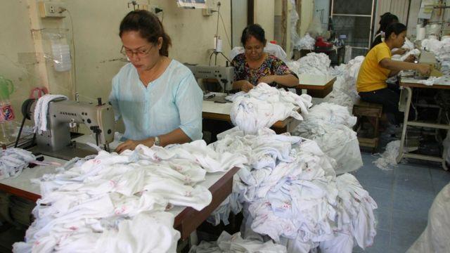แรงงานในโรงงานตัดเย็บเสื้อผ้า