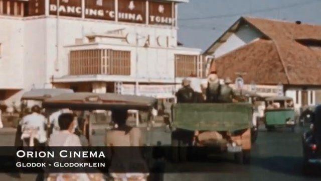 Bioskop Orion di kawasan Glodok seperti dalam video Jakarta 1941 yang diedit oleh Sven Verbeek.