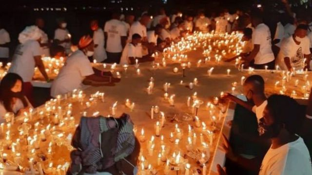 Candle light procession