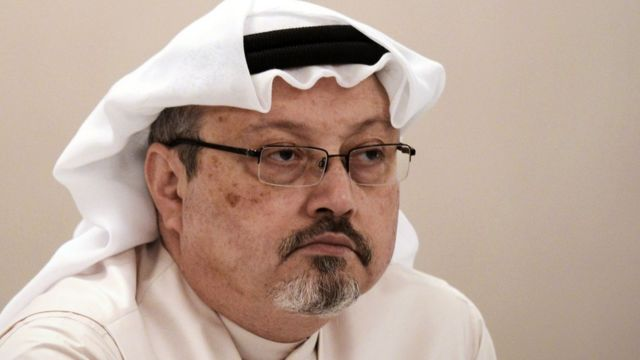 File photo of Jamal Khashoggi (15 December 2014)