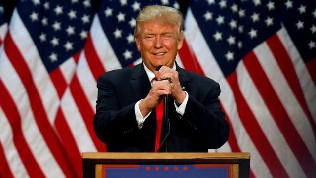 O republicano Donald Trump