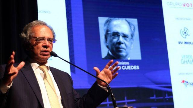 Ministro Paulo Guedes fala em evento