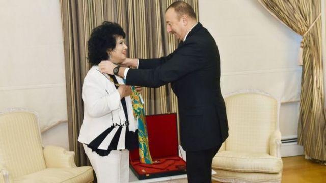 Zeynəb Xanlarova və İlham Əliyev