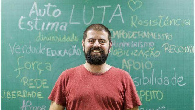Affonso Novaes, professor voluntário do Transenem