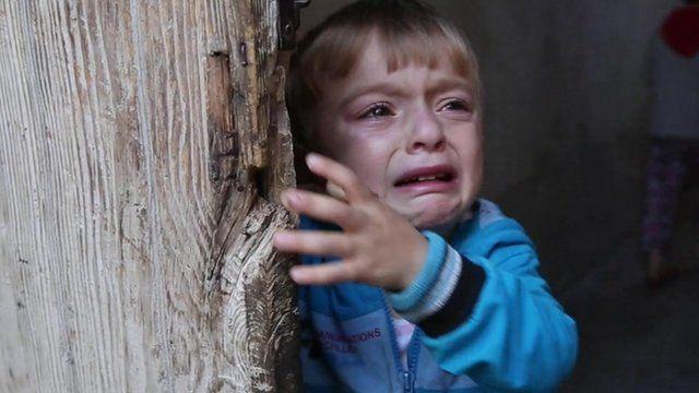 Crying child in Kilis
