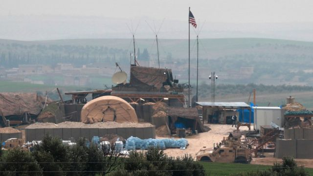 A US-led coalition site on the outskirts of Manbij, 28 December